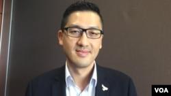 香港立法会议员林卓廷(美国之音记者申华拍摄)