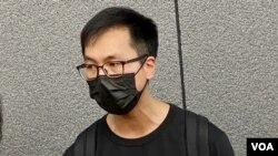梁錦威表示,支聯會在公民社會的角色應該由香港市民去決定,而不是特首林鄭月娥一個人定義。 (美國之音湯惠芸)