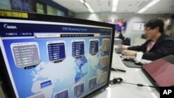 An employee of Korea Internet Security Center works at a monitoring room in Seoul, South Korea. There is no kill switch for the Internet for the White House. Yet when Congress was exploring ways to secure computer networks, a plan to give the president th