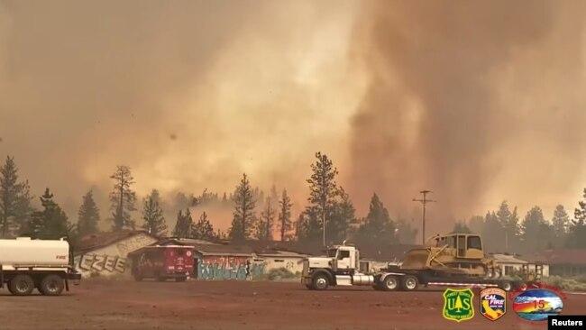 Cháy rừng tại California.