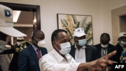 Le président nouvellement réélu, Denis Sassou Nguesso, à Brazzaville, le 23 mars 2021.