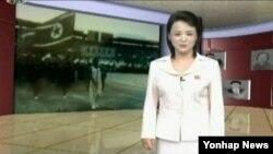 북한 유일의 전국 TV채널인 조선중앙TV가 지난해 10월 세계적인 체조동작 <김광숙 동작>'이라는 프로그램을 내보내며 새 방송기술인 '가상 스튜디오'를 선보였다. (자료사진)