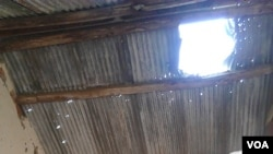 Ecole primaire de Vindza bombardée