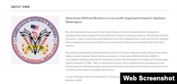Trang Hội Tình lai Không Biên giới. Photo Amerasians Without Borders.