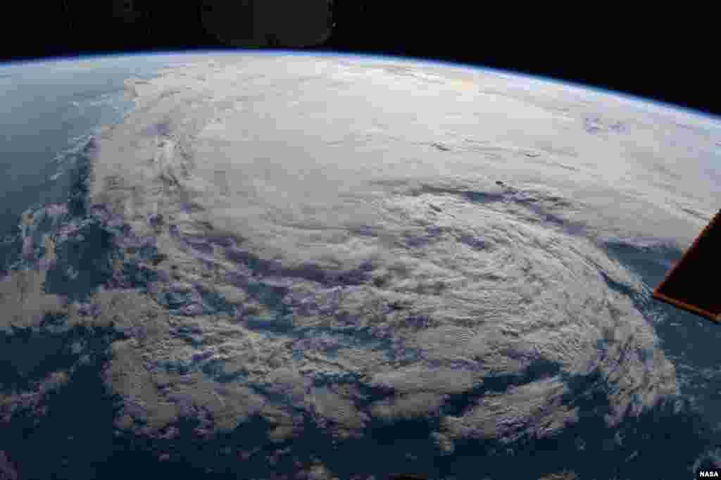 Astronaut Randy Bresnik took this photo of Tropical Storm Harvey from the International Space Station, Aug. 28, 2017.