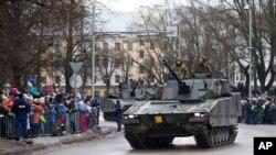 Нарва, Эстония, 24 февраля 2015.
