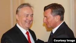 Zlatko Lagumdžija je 22. oktobra 2013. godine imao zakazana predavanja studentima. Istovremeno je bio u posjeti slovenačkom predsjedniku Borutu Pahoru. (Foto: Vijeće ministara BiH)