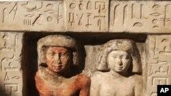 Une ancienne statue de pierre en Egypte.