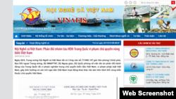 Trang web của Hội Nghề Cá Việt Nam.