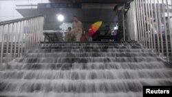 北京地區受暴雨襲擊