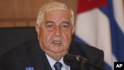 Menteri Luar Negeri Suriah Walid al-Moallem berjanji bahwa pemberontak di Aleppo akan dikalahkan (foto: dok).