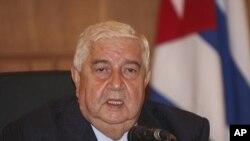 Le ministre syrien des Affaires étrangères Walid al-Moallem (9 octobre 2011)
