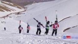 مسابقات اسکی بانوان در بامیان برگزار شد