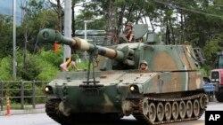南韓的重型武器預備參與美韓聯合軍演