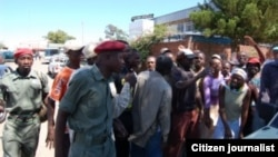 A Zanu-PF militia in Harare on August 1, 2013