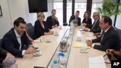 希臘總理齊普拉斯與歐洲領袖商討新的救助計劃