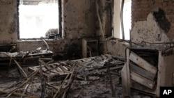 Hiện trường vụ không kích bệnh viện Afghanistan, ngày 16 tháng 10 năm 2015.