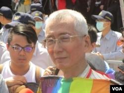 台灣同性戀運動先驅祁家威(美國之音張永泰拍攝)