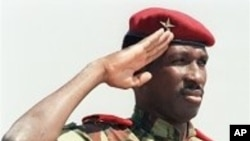 Thomas Sankara, l'ancien président burkinabè tué lors d'un putsch le 15 octobre 1987.
