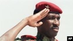 l'ex-président et capitaine Thomas Sankara