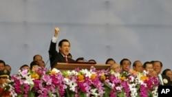 台灣總統馬英九10月10日在建國百年國慶大典上講話