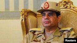 埃及军方领导人阿卜杜勒 - 法塔赫•塞西将军(资料照片)