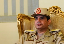 Egypt's Defense Minister Abdel Fattah al-Sisi is seen during a news conference in Cairo, May 22, 2013.