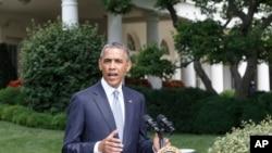 美国总统奥巴马7月21日在白宫就乌克兰和加沙局势发表声明。