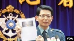 台湾国防部发言人罗绍和少将 (资料照片 美国之音郑裕文拍摄)