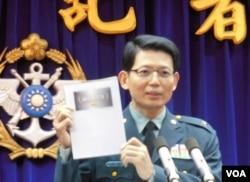 台湾国防部发言人罗绍和(美国之音郑裕文拍摄)