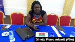Lors du forum de ROAJELF à Cotonou, au Bénin, le 26 novembre 2017. (VOA/Ginette Fleure Adandé)