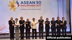 Các lãnh đạo ASEAN tại cuộc họp thượng đỉnh ở Manila, Philippines, ngày 29/4/2017.