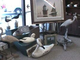 Wooden decoys, here in Vincenti's shop in Havre de Grace, Md., can sell for up to several thousand dollars.