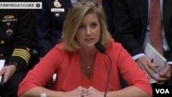 美國國防部副部長克莉絲汀沃姆斯星期三在國會眾議院軍事委員會的聽證上說,美國在亞太地區面臨來自中國的挑戰。