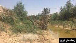 خشکسالی در ایران موجب خشک شدن رودخانه کرخه در استان خوزستان شده است