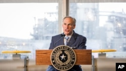 FILE - Texas Gov. Greg Abbott.
