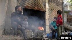 Civili u Homsu, snimljeni 30. januara 2014.