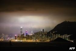 홍콩의 야경.