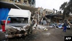 Nơi xảy ra đánh bom xe ở khi Amil, Baghdad, Iraq, 21/3/2017