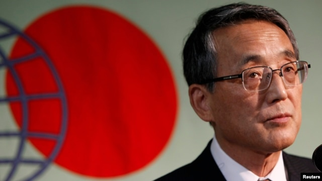FILE - Japan's Nuclear Regulation Authority Chairman Shunichi Tanaka attends a news conference in Tokyo, September 2012.