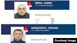Interpolove potjernice za Darkom Mrđom i Draganom Marjanovićem