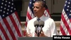 Obama anuncia una estrategia para reducir las emisiones de gases de invernadero de las plantas de energía eléctrica.