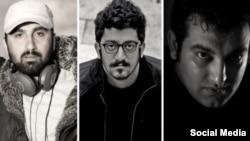 از راست به چپ: حسین رجبیان، مهدی رجبیان٬ یوسف عمادی