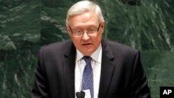 Сергій Рябков промовляє у штаб-квартирі ООН в Нью-Йорку