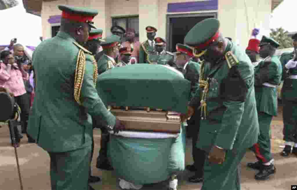 An yi jana'izar shugaban kungiyar Biafra Ojukwu.