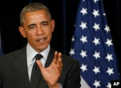 U.S. President Barack Obama discussed details about the release of U.S. Sgt. Bowe Bergdahl, who had been held by the Taliban for five years, during a news conference after the G7 summit in Brussels, Belgium, June 5, 2014.
