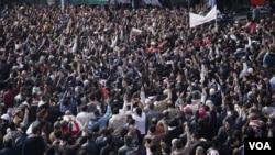 اردن میں حکومت مخالف مظاہرہ