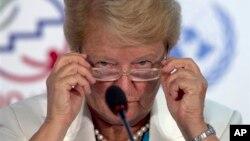 The Elders အဖြဲ႔ရဲ့ ဒုတိယဥကၠ႒ ကမာၻ႔က်န္းမာေရးအဖြဲ႔ အေထြေထြ ၫႊန္ၾကားေရးမွဴးေဟာင္းလည္းျဖစ္၊ အရင္ ေနာ္ေ၀ ၀န္ႀကီးခ်ဳပ္ ေဟာင္းလည္းျဖစ္သူ Gro Harlem Brundtland