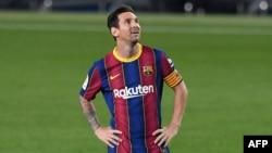 Pemain bintang FC Barcelona, Lionel Messi