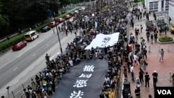 香港沙田反送中地區遊行